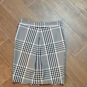 Front pleat Pencil Mini Skirt